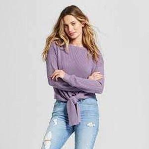 Universal Thread Cropped Tie Hem Sweater XXL